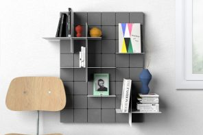 This playful no-screw-no-glue shelf uses modular interlocking pieces and your imagination!