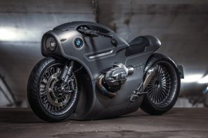 The custom-made BMW R9T looks like a post-apocalyptic steampunk beauty!