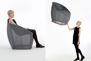 LAYER Design's flexible chair is based on human psychology and sports