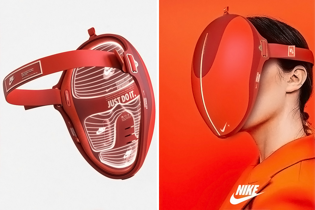A conceptual Nike skincare gadget and other self-care products to help you relax and get some me-time!