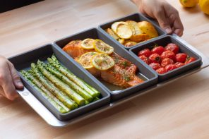 These silicone dividers let you hack your kitchen oven and cook multiple dishes together!