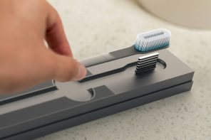 This self-sanitizing toothbrush kills 99.8% bacteria