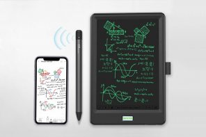 A sensor inside this smart pen turns all your handwritten notes into editable digital text
