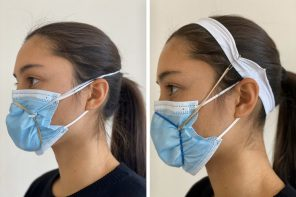 An ex-Apple designer's lifehack lets doctors turn surgical masks into secure N95 masks