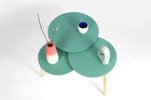 The SLIDE table has a quirky, fun way of expanding and contracting to alter its surface area