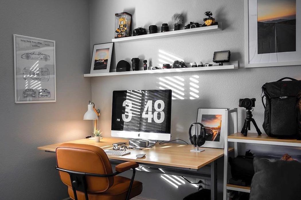 desk setups layout