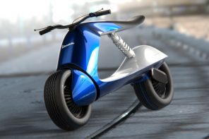Here's what Vespa scooters will look like in the future according to a concept designer