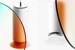 No more opening kitchen windows with this suspended light that doubles as an air purifier !