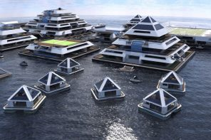 These pyramid-shaped Yacht communities are a millionaire's social-distancing paradise