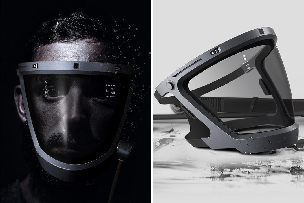 This futuristic smart diving mask will revolutionize the existing underwater experience!
