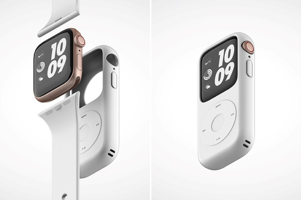 Your Apple watch gets a nostalgic vibe with this iPod-inspired watch case!