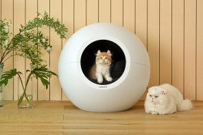 This IKEA-worthy self-cleaning litter box is possibly the best looking one we've ever seen