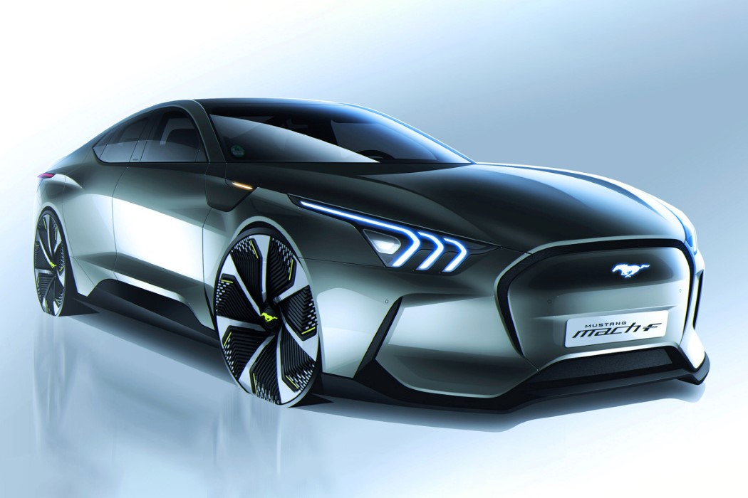 The Ford Mustang Mach-F concept makes the electric vehicle look 'muscular' again | Yanko Design