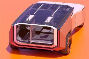 This futuristic vehicle design facilitates irrigation, agriculture and education