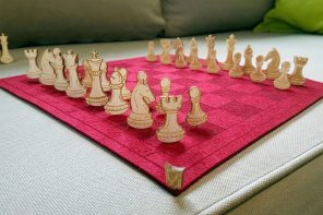 The Felt+Pin chess set is basically a large, playful pincushion!
