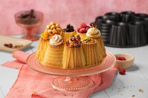 Delicious by design: This silicone bundt cake mold combines geometry and confectionery!