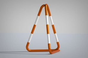 This redesigned traffic cone is minimal, visible, durable, and stackable!
