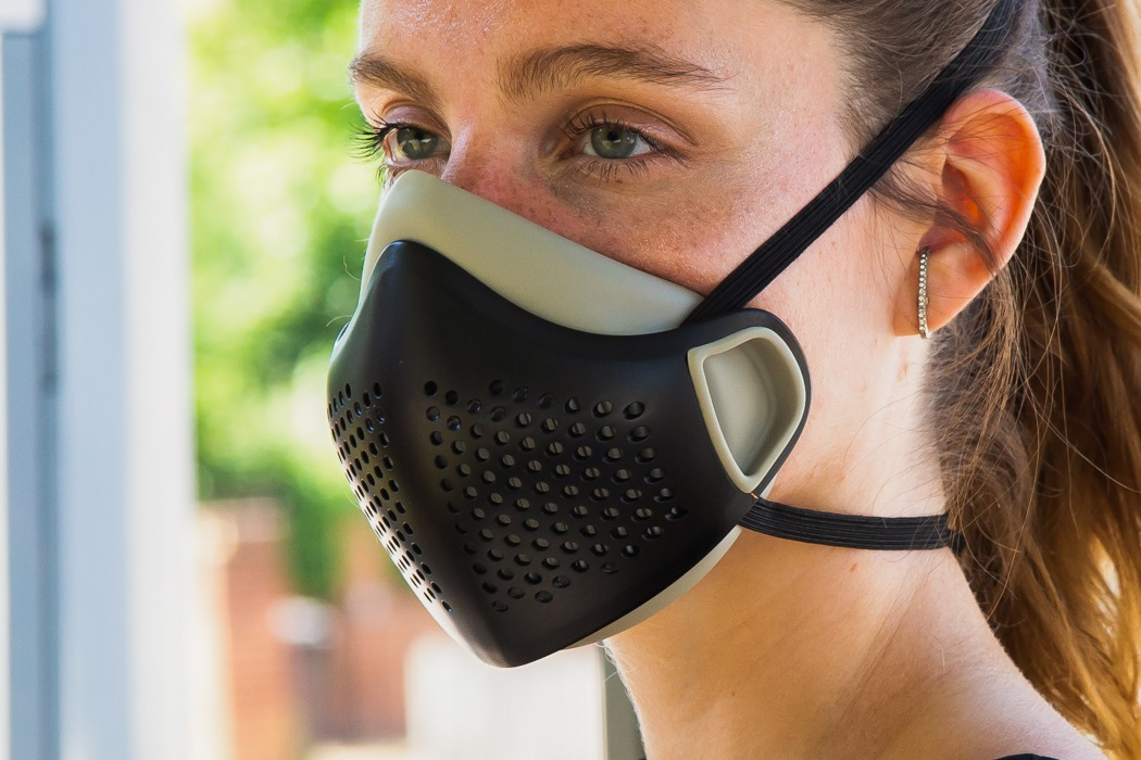This reusable face mask uses a pleated HEPA filter to let you breathe 99.9% clean air