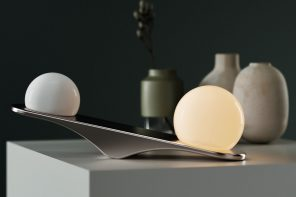 This intuitive light was designed to reflect nature's law of balance!