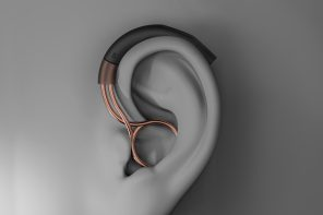 A smart hearing aid designed with modern aesthetics to empower you!