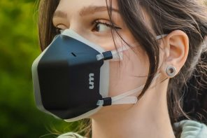 UV Mask is the world's first antiviral face mask with an active UV-C sterilization for 99.99% clean air