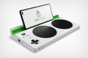 A Microsoft xCloud Adaptive Controller that brings mobile cloud-gaming to the specially-abled