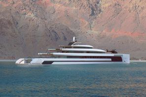 This energy-efficient superyacht uses solar panels spanning over 200 square meters!