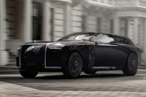 The Rolls-Royce Apparition concept is a sleek, obsidian black, electric-powered beauty on wheels