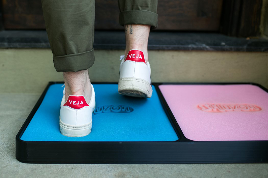 This shoe-sanitizing doormat is a great example of a good/bad idea | Yanko  Design