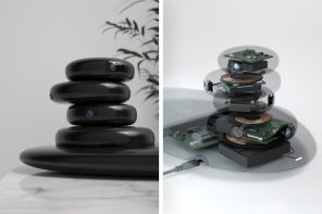 These smart-home devices are disguised to look like balancing Zen Stones!