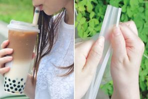 Bubble tea lovers finally get a reusable straw that opens up for easy cleaning!