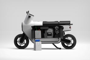 The scooter gets its first radical redesign in nearly a 100 years with an expanded storage chamber