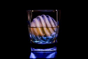 This swirling orb of ice helps make your drinks look amazing and cool faster too!