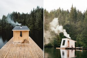 This floating health + wellness sustainable spa gives you an immersive experience in nature!