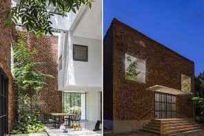 This hole-some house design reduces indoor pollution and breathes using upcycled punctured bricks!