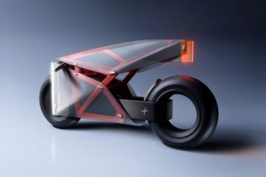 Stunning translucent motorcycle concept allows you to see the chassis through its bodywork!