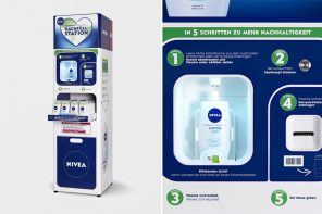 Can NIVEA's 3D printed shower gel refill station prototype really reduce plastic packaging waste?