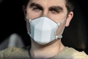 Ditch those dirty cloth masks, this reusable UV-C face mask makes it easy to breathe 99% clean air