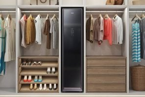 Samsung's automatic dry cleaning wardrobe removes 99% bacteria and is finally on sale!
