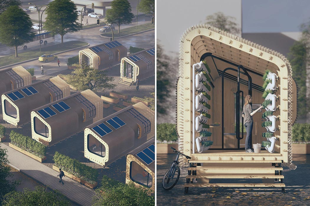 This tiny home was designed to facilitate micro living in expensive cities!
