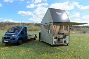 Watch this camper expand into a two story tiny house powered by solar panels!