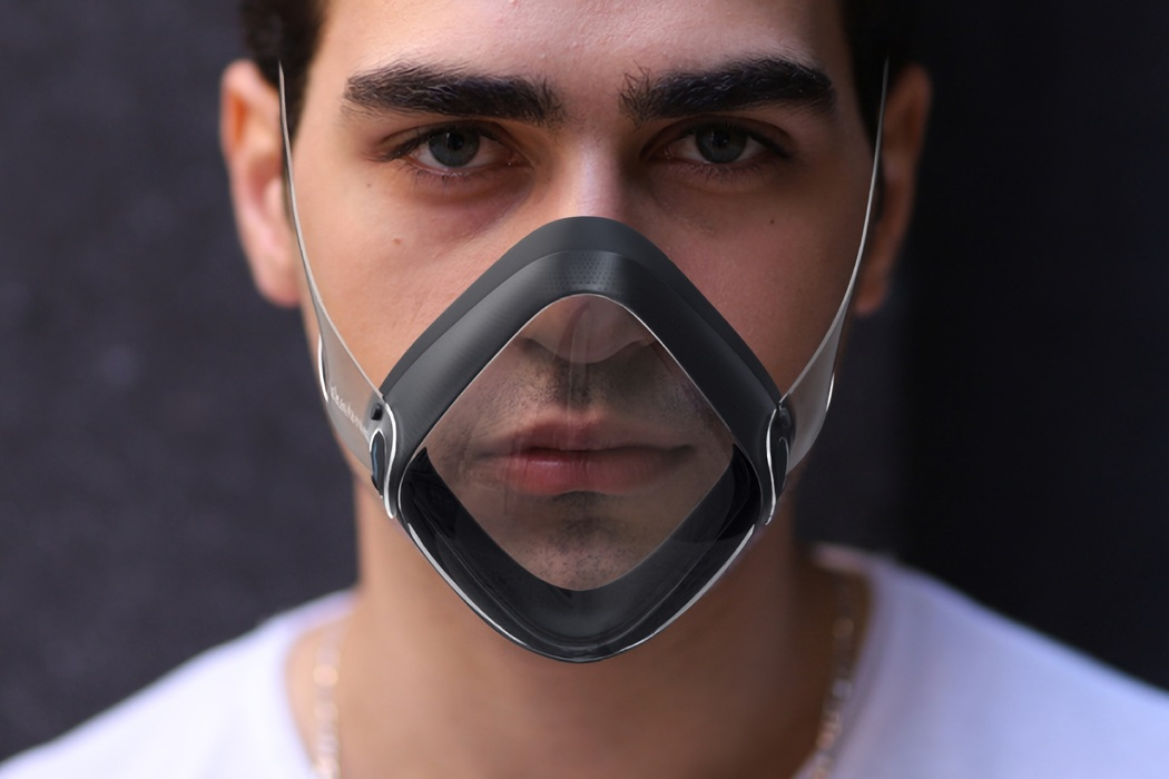 Ditch those cloth masks for this transparent N99 face mask with an AI-Powered Ventilation System