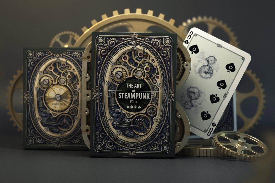 Steampunk makes everything cooler… even these playing cards