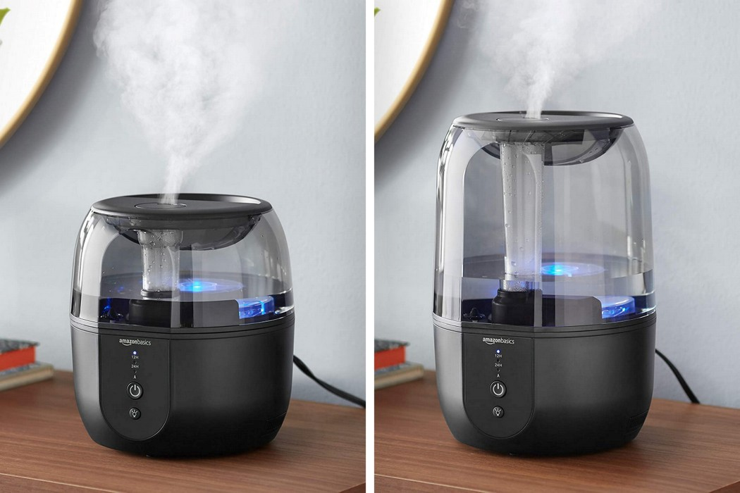 Amazon's 3-in-1 humidifier doubles up as an aroma diffuser and a night-lamp