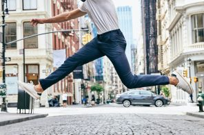 The next generation of chinos comes with stain-repelling fabric, RFID-blocking pockets and custom made for you
