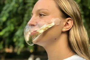 Ditch those dirty cloth masks, this reusable transparent face mask makes it easy to breathe 99% clean air
