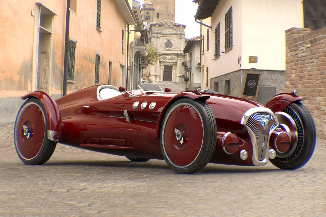 Retro 1940s-Inspired race-car concept is powered by an electric drivetrain!