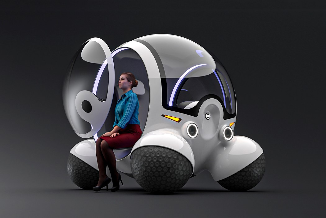 The Nissan Dodgy looks like a pod-vehicle designed for terraformed Mars