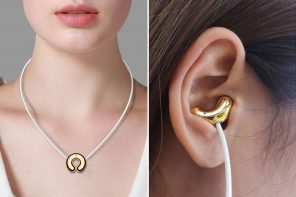 Earphones that magnetically hang like a necklace for the ultimate tech-fashion statement