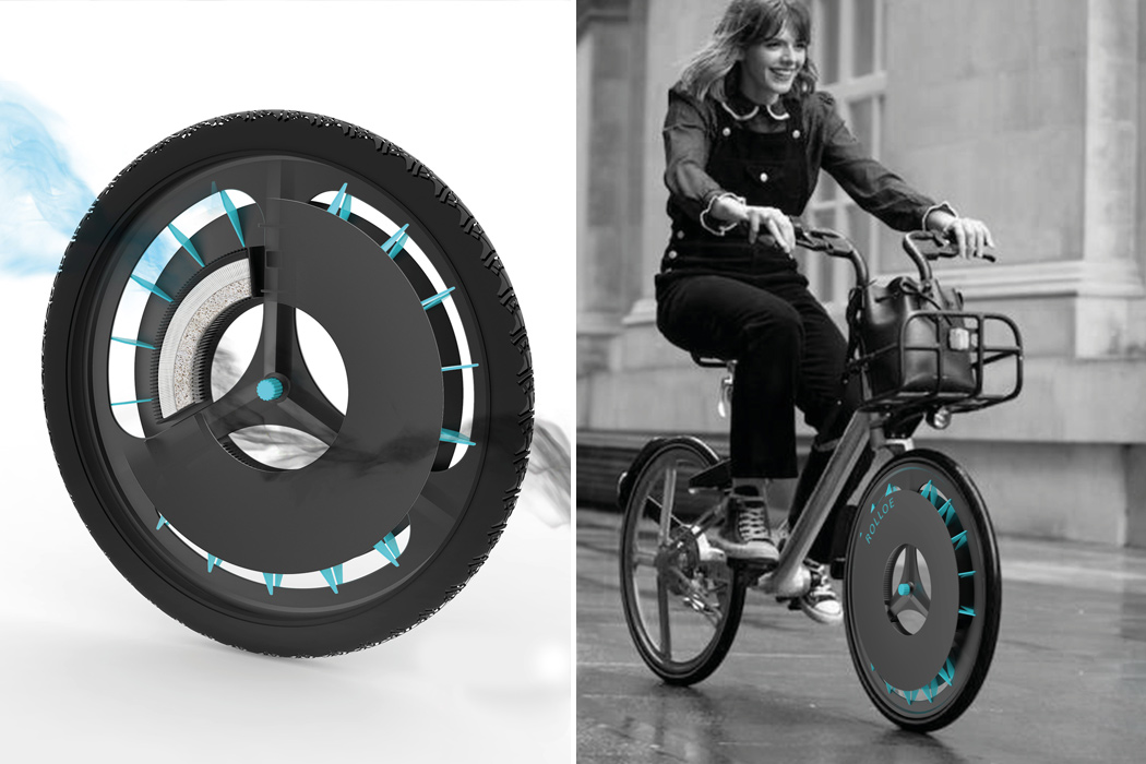 This air pollution sucking bike wheel is the solution needed to provide clean breathing air!